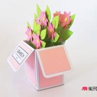 kartka biale kwiaty w pudełku halffold studio logo4