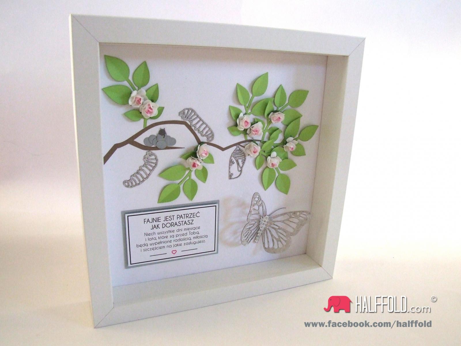 1-stka prezent obraz papierowy handmade pamiatka ramka