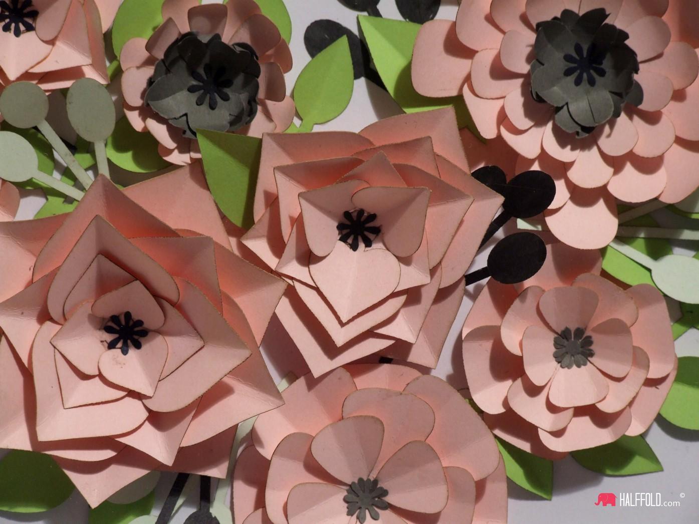 Obraz 3d kwiaty serce walentynki bez szyby