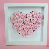 Prezent podziekowanie dla rodzcow walentynki obraz serce roze 3d