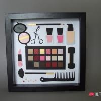 obraz kosmetyki kosmetyczka 18-stka urodziny prezent kobiety handmade