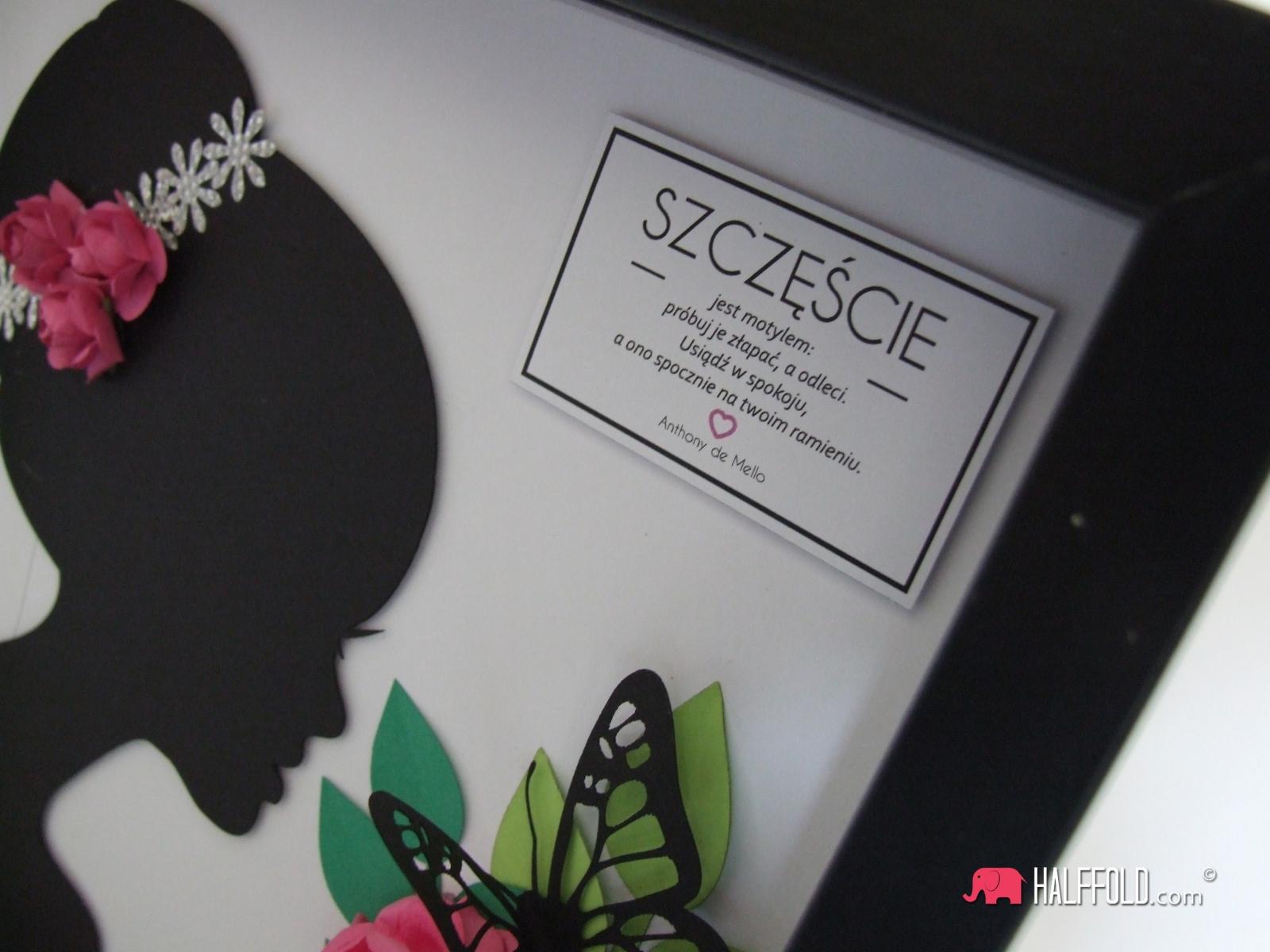 kobieta kwiat szczescie halffold studio logo