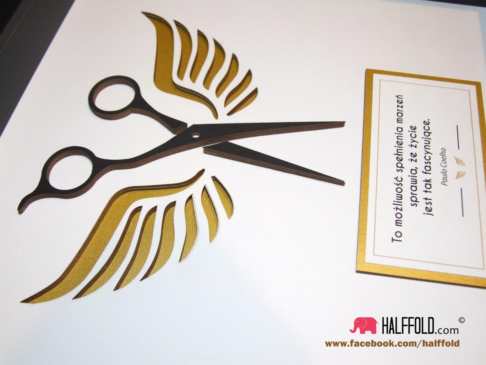 obrazek biznesowy nagroda podziekowanie pracownika prezent szefa fryzjer halffold studio