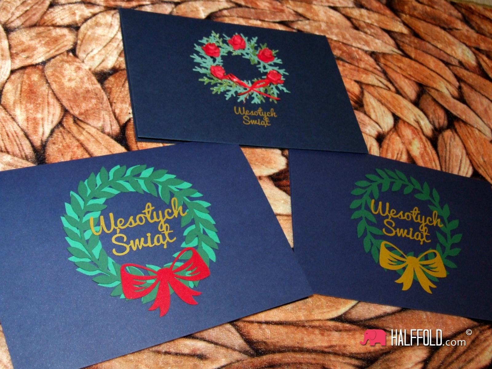 KARTKI SWIATECZNE halffold studio pup up handmade