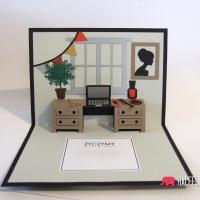 kartka urodzinowa pop up szefa szefowej dyrekora handmade
